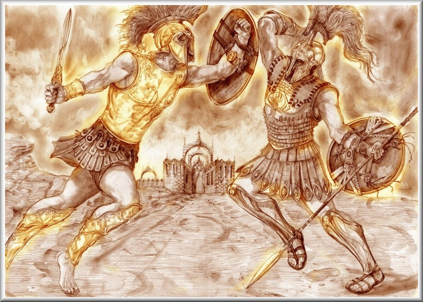 hector and achilles Achilles definition, the greatest greek warrior in the trojan war and hero of homer's iliad he killed hector and was killed when paris wounded him in the heel, his one vulnerable spot, with an arrow.
